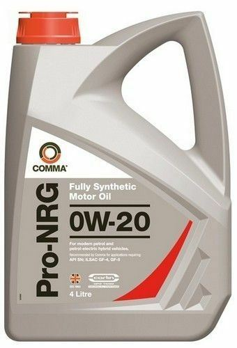 4 L COMMA OILS Pro-Nrg 0W20 Fully synthetic Engine Oil NRG4 TOYOTA LEXUS MODELS