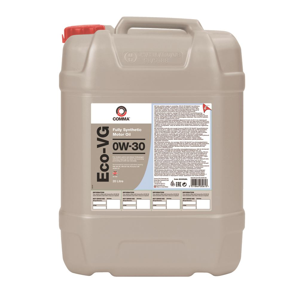 Comma - ECOVG20L  - ECO-VG 0W30 Fully synthetic motor oil ACEA C3 20L
