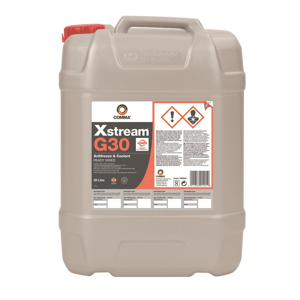 Comma - XSM20L  - XSTREAM G30 OEM Approved Antifreeze & Coolant BS-6580-2010 20L