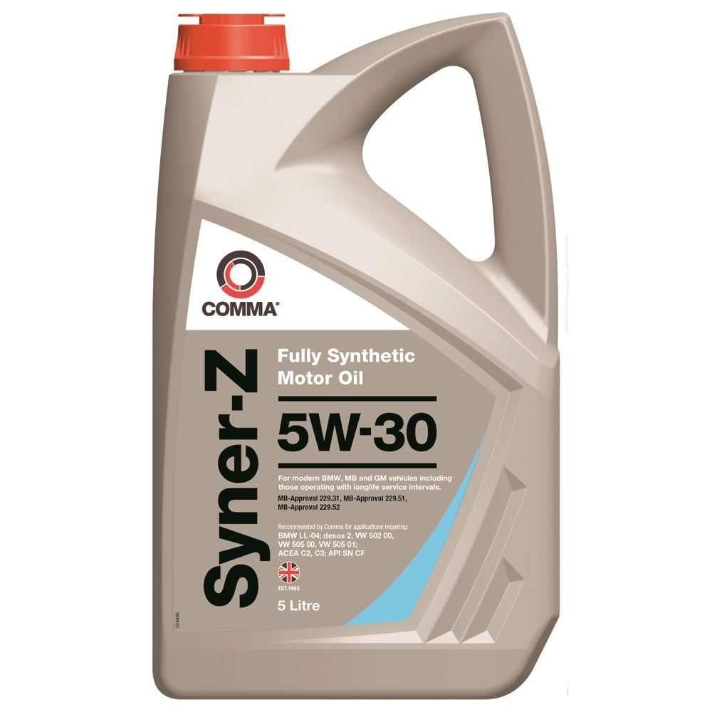 Comma - SYZ5L  - SYNER-Z 5W30 Fully synthetic motor oil ACEA C3 5L