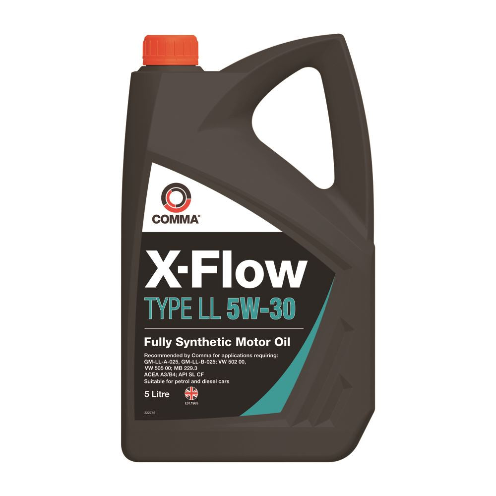 Comma - XFLL5L  - X-FLOW TYPE LL 5W30  Fully synthetic oil ACEA A3/B3 A3/B4 5L