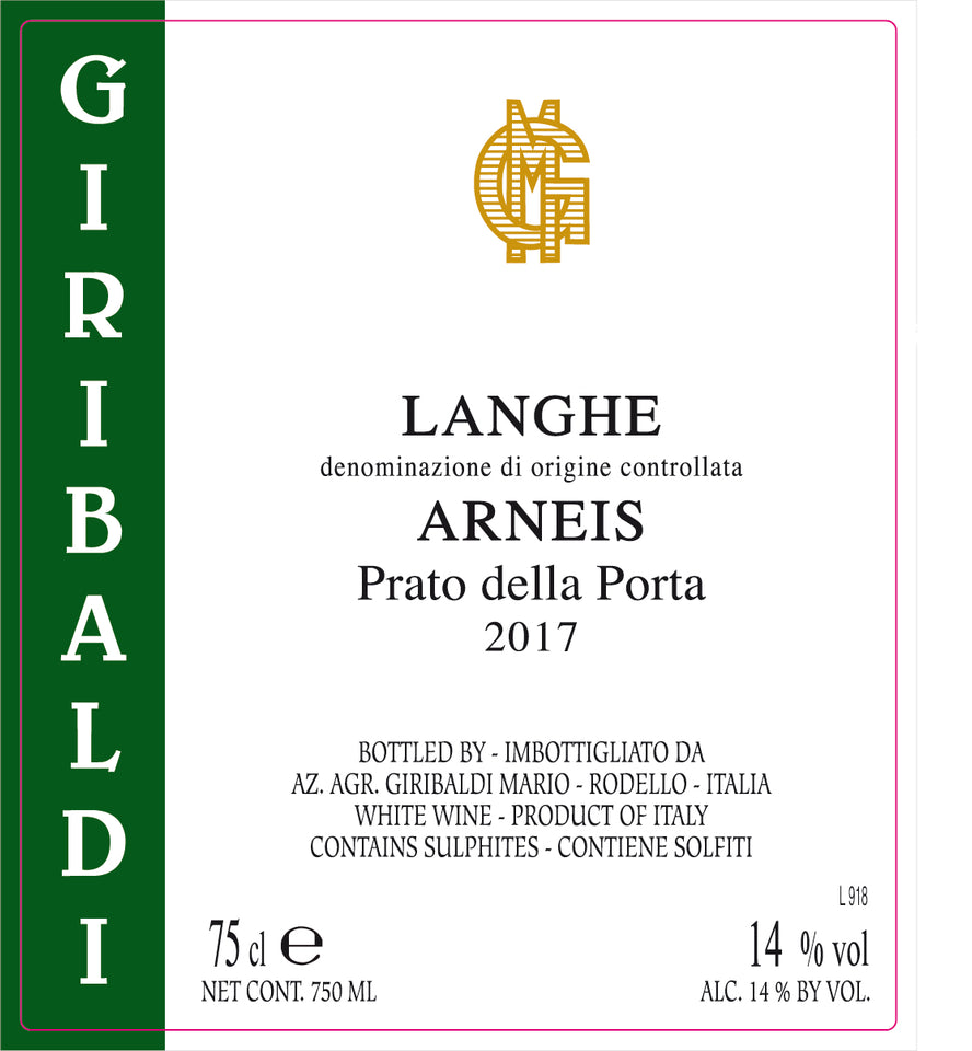Langhe Arneis DOC Bianco 2017 , Giribaldi Organic, Piemonte - The Simple Wine