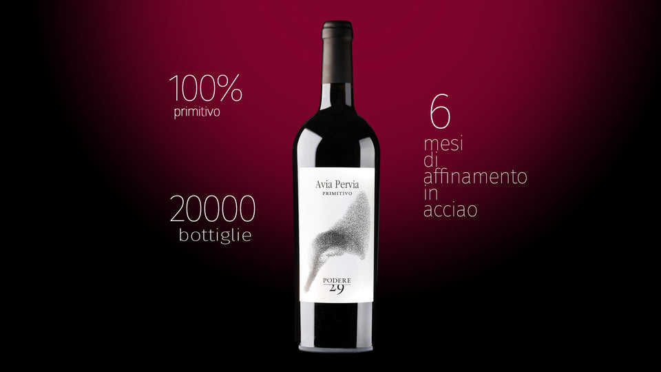 Avia Pervia Primitivo 2016 Podere29 Puglia - The Simple Wine