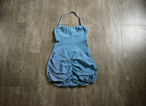 1940s blue swimsuit . 40s rayon swimsuit