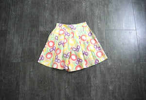 1980s 1990s fruit print shorts . vintage 1940s style shorts
