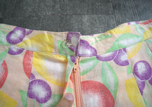 Load image into Gallery viewer, 1980s 1990s fruit print shorts . vintage 1940s style shorts