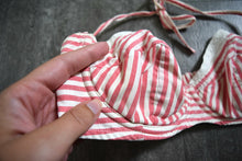 Load image into Gallery viewer, 1940s bikini . vintage 40s striped swimsuit