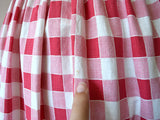 1940s gingham dress . vintage 40s pinafore style dress