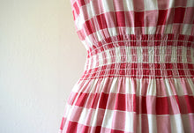 Load image into Gallery viewer, 1940s gingham dress . vintage 40s pinafore style dress