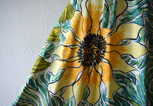 Load image into Gallery viewer, 1950s skirt . vintage 50s sunflower skirt