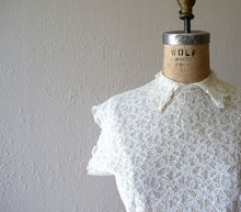 Load image into Gallery viewer, 1940s lace blouse . vintage 40s lace top