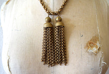 Load image into Gallery viewer, 1940s brass necklace . vintage 40s jewelry