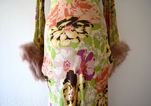 Load image into Gallery viewer, 1930s silk gown . vintage 30s floral print dress