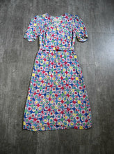Load image into Gallery viewer, 1930s rayon dress . vintage late 30s floral print dress