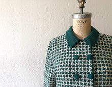 Load image into Gallery viewer, 1940s knit set . vintage 40s green knit dress