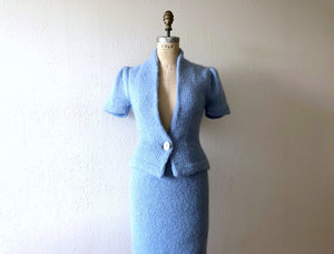 1940s knit set . vintage 40s knit suit