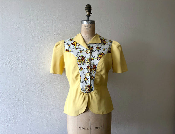 1930s 1940s top . vintage 30s 40s blouse