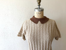 Load image into Gallery viewer, 1940s knit top . vintage 40s wool knit sweater