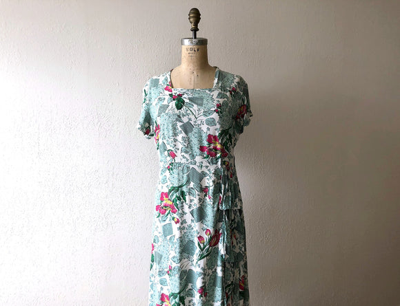 RESERVED . . . on layaway . 1940s rayon dress