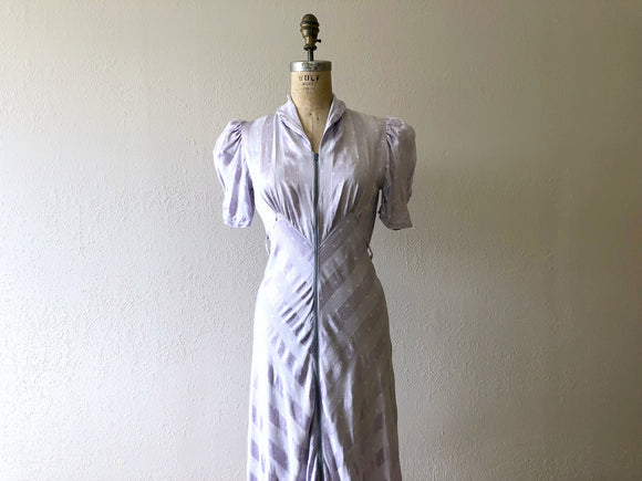 1930s dressing gown . vintage 30s star print dress
