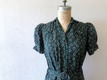 Load image into Gallery viewer, 1930s 1940s dress . vintage 30s 40s dress