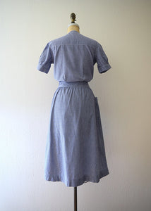 1930s uniform dress . vintage 30s workwear