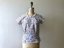 Load image into Gallery viewer, 1940s top . vintage 40s print blouse