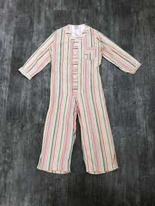 1930s striped playsuit . vintage 30s pajamas