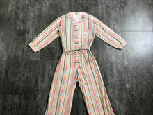 Load image into Gallery viewer, 1930s striped playsuit . vintage 30s pajamas