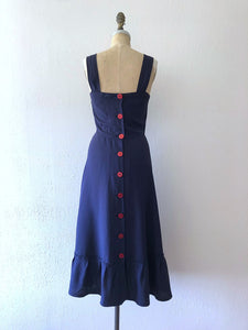 1940s style pinafore . reproduction dress