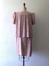 Load image into Gallery viewer, 1940s maternity set . vintage 40s cold rayon dress