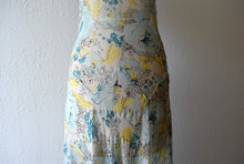 Load image into Gallery viewer, 1920s 1930s chiffon dress . vintage floral print dress
