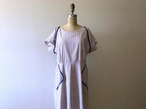 1940s day dress . vintage 40s summer dress
