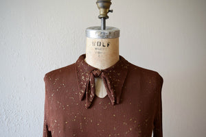 1930s knit top . vintage 30s top