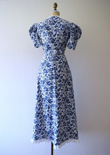 Load image into Gallery viewer, 1930s cotton gown and bolero . vintage 30s dress