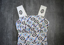 Load image into Gallery viewer, 1940s sundress . vintage 40s geometric print dress