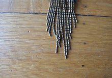 Load image into Gallery viewer, 1940s brass necklace . vintage 40s fringe necklace