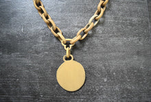 Load image into Gallery viewer, 1930s celluloid necklace . vintage 30s chain pendant necklace
