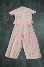Load image into Gallery viewer, 1940s rayon pajamas . vintage 40s lounge set