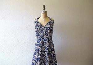 1940s sundress . vintage 40s floral dress