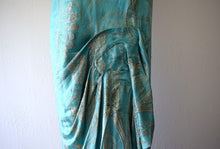 Load image into Gallery viewer, 1920s lame dress . vintage 20s silk and lame gown