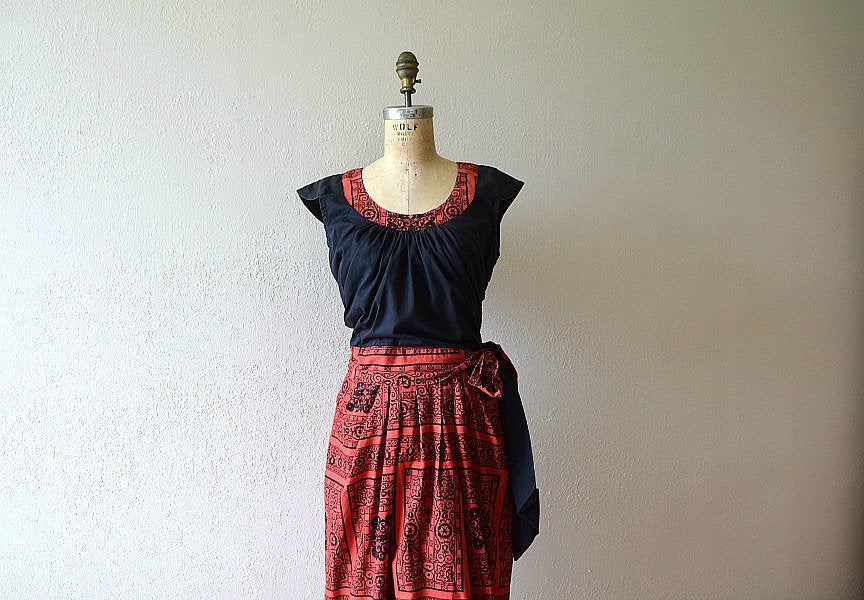 1940s dress set . late 40s vintage dress