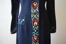 Load image into Gallery viewer, 1930s embroidered dress . vintage 30s Arts and Crafts dress