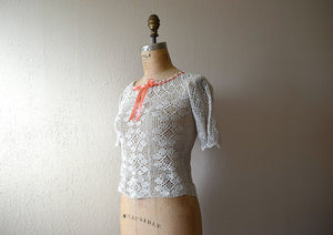 1920s crochet top . antique crochet top
