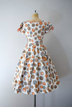 Load image into Gallery viewer, 1950s vintage dress . 50s polka dot dress . small
