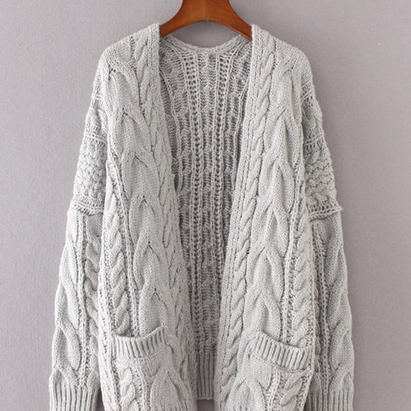 b95e5ad22aa Drop Shoulder Cable Knit Cardigan – SheSublime