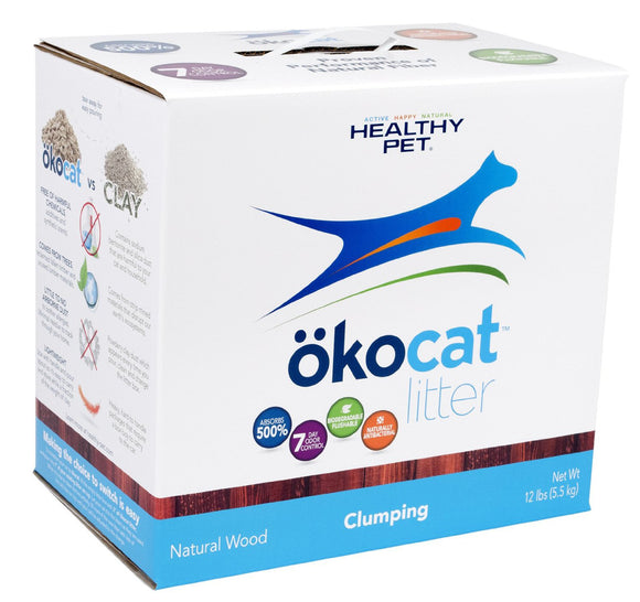ökocat Clumping Wood Natural Cat Litter 13.2 Lbs
