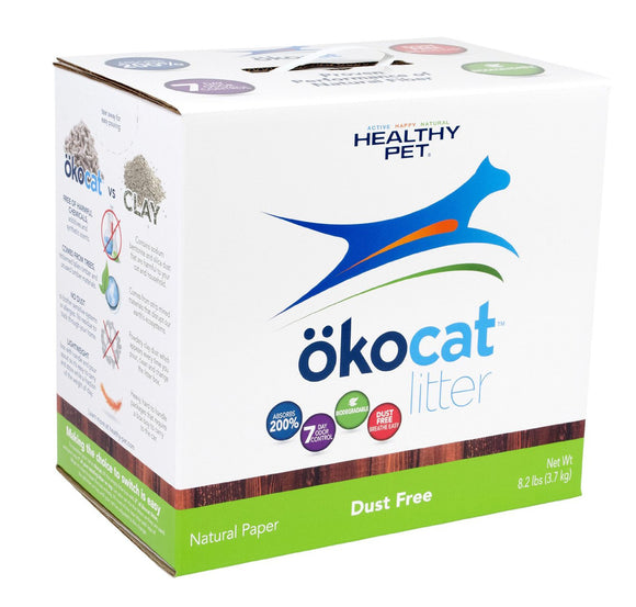 ökocat Dust Free Paper Natural Cat Litter 8.2 Lbs