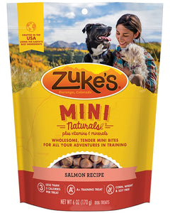 Zuke's Mini Naturals Salmon Recipe Dog Treat 16 Oz