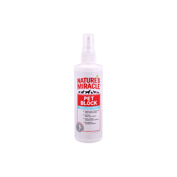 Nature's Miracle Pet Block Repellent Dog Spray 8 Oz